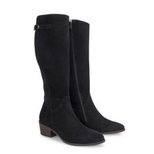 Italeau Tosca Black Suede Tall Boots